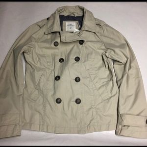 H&M Short Trench Coat (Logg) Size 12